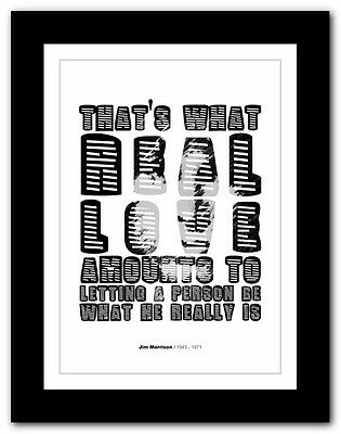 Jim Morrison ❤ Typography Quote Poster Art Limited Edition Print The Doors #27 • 16.95£