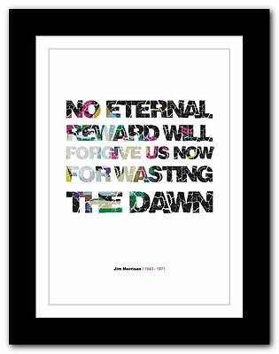 Jim Morrison ❤ Typography Quote Poster Art Limited Edition Print The Doors #47 • 14.95£
