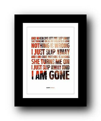 BLUR Beetlebum  ❤  Song Lyrics Typography Poster Art Print • 16.95£