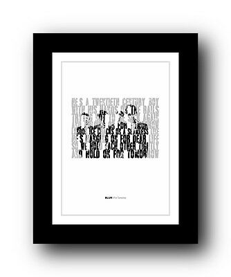 BLUR For Tomorrow  ❤  Song Lyrics Typography Poster Art Print • 14.95£