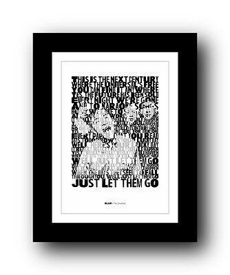 BLUR The Universal  ❤  Song Lyrics Typography Poster Art Print #3 • 16.95£