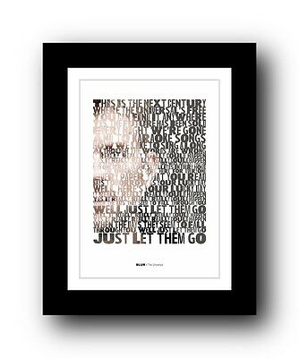 BLUR The Universal  ❤  Song Lyrics Typography Poster Art Print #4 • 16.95£