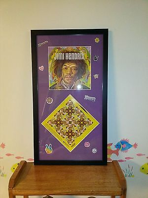 Jimi Hendrix Forever Stamps , Original, Unique And Professionally Framed .  • 61.77£