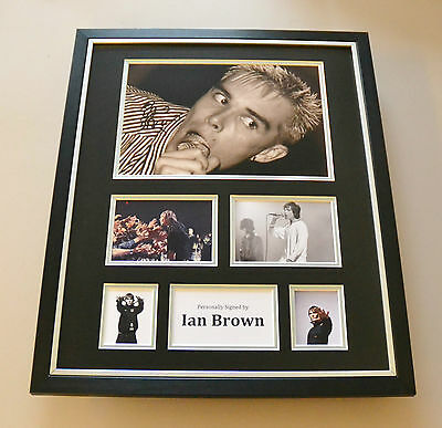Ian Brown Signed Photo Large Framed Stone Roses Autograph Display Memorabilia • 179.99£