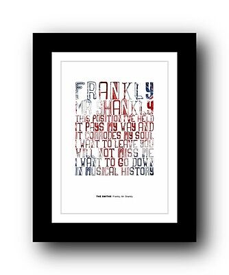 The Smiths ❤  Frankly, Mr. Shankly Song Lyrics Poster Art Limited Edition Print • 15.99£