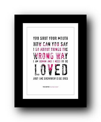 The Smiths ❤ How Soon Is Now Song Lyrics Poster Art Limited Edition Print  #3 • 15.99£