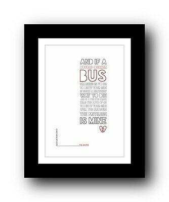 The Smiths ❤ There Is A Light That Never Goes Out ❤  Typography Poster Art Print • 15.99£