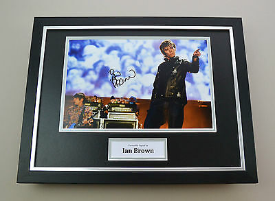 Ian Brown Signed Photo Framed 16x12 Stone Roses Memorabilia Autograph Display • 120£