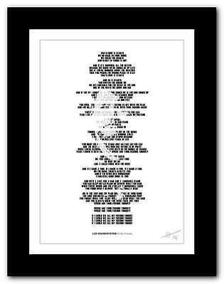 LCD SOUNDSYSTEM All My Friends ❤  Song Lyrics Typography Poster Art Print #48 • 15.95£