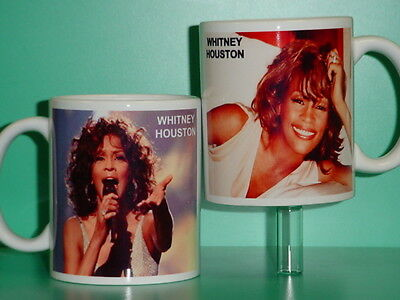 WHITNEY HOUSTON - With 2 Photos - Designer Collectible GIFT Mug • 11.55£
