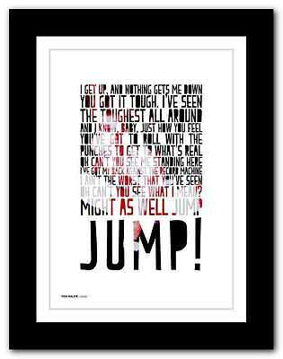VAN HALEN - Jump ❤ Typography Quote Poster Art Limited Edition Print #88 • 9.95£
