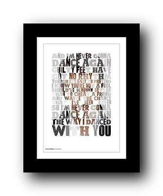 GEORGE MICHAEL Wham! ❤ Careless Whisper ❤ Song Lyrics Poster Art Print #3 • 16.95£