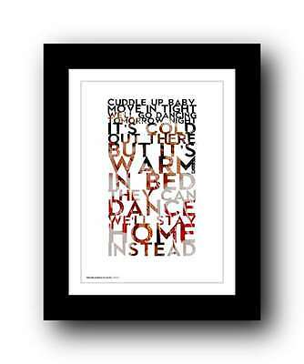 GEORGE MICHAEL ❤ Wake Me Up Before You Go Go ❤ Wham! Lyrics Poster Art Print #33 • 14.95£