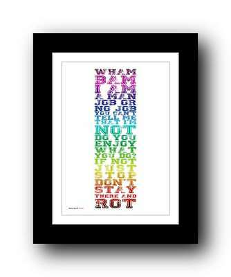 GEORGE MICHAEL ❤ Wham! Rap 86 ❤ Wham! Lyrics Poster Art Print #35 • 16.95£