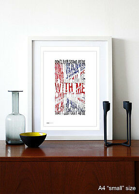OASIS ❤ Roll With It ❤ Song Lyric Poster Art Limited Ed Print - 5 Sizes #26 • 15.95£