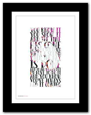 THE STONE ROSES ❤ Shoot You Down ❤ Lyrics Poster Art Edition Print In 5sizes #21 • 9.95£