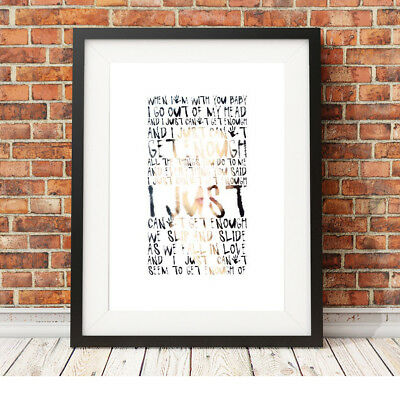 DEPECHE MODE ❤ Just Can't Get Enough ❤ Song Lyric Poster Art Print In 5 Sizes #7 • 16.95£