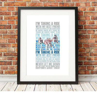DEPECHE MODE ❤ Never Let Me Down Again ❤ Song Lyric Poster Art Edition Print #13 • 16.95£