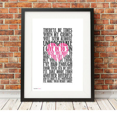 DEPECHE MODE ❤ Strangelove ❤ Song Lyric Poster ART Limited Edition Print #22 • 16.95£