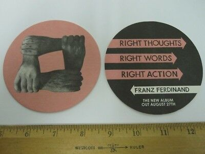 FRANZ FERDINAND 2013 Right Thoughts 4 Beverage Coaster Set Promo New Old Stock • 2.92£