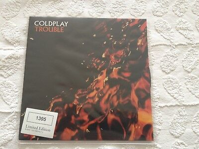 RARE Coldplay Trouble 7  Single Limited Edition Numbered Vinyl • 32£