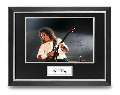 Brian May Signed 16x12 Framed Photo Display Queen Autograph Music Memorabilia • 120£