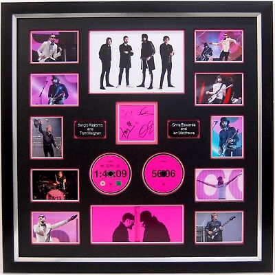 Kasabian Hand Signed Framed Cd Display 48 13 Sergio Pizzorno, Tom Meighan. • 249.99£