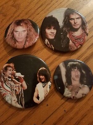 Lot Of 4  Van Halen Buttons  • 15.74£