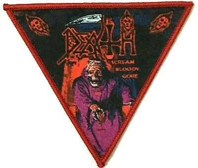 DEATH - Scream Bloody Gore - Printed Patch Red Stitching Aufnäher Parche • 2.95£