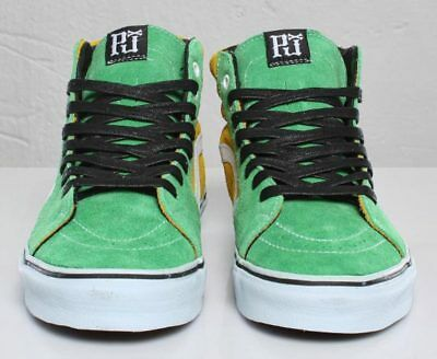 Pearl Jam Rare Green And Yellow Vans Sneakers Shoes Size  M7 W 9 Limited Edition • 203.73£