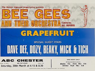 Bee Gees / Dave Dee Dozy Beaky Mick And Titch Chester 16x12 Repro Concert Poster • 6.95£