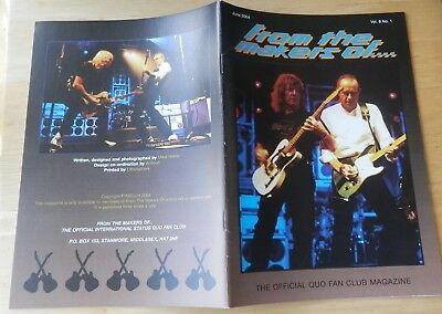 Status Quo Official Fan Club Fan Magazine, Vol 8 No 1 June 2004 • 3.99£