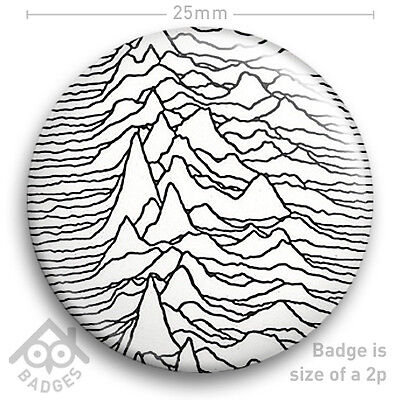 Joy Division UNKNOWN PLEASURES - Ian Curtis Factory Records Badge 25mm 1  NEW • 0.99£