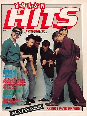 Smash Hits 1979 A4 Front Page Poster MADNESS • 2.99£