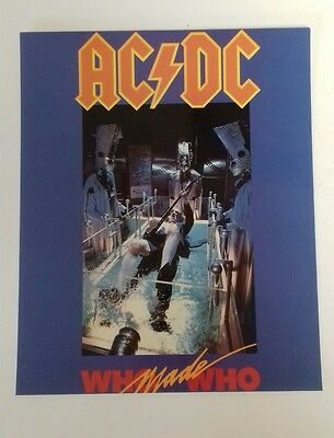 AC/DC - Who Made Who Album Glossy Pic 1990 10 X8  Official Merchandise Card Pic  • 4.95£