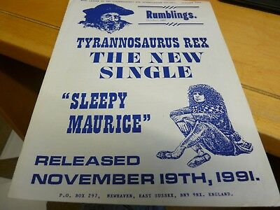 Marc Bolan - Original Rumblings  October 1991 - Very Early -  Great Condition • 5.99£
