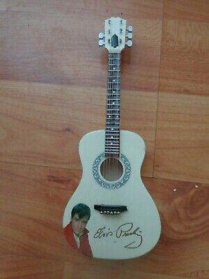 Rare Atlas Editions - Elvis Presley Acoustic Guitar - Mini Guitar Replica Model • 19.99£
