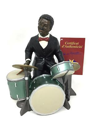 Drummer Figurine Sculpture Jazz Blues Percussionist Musician Drums Statue • 44.95£