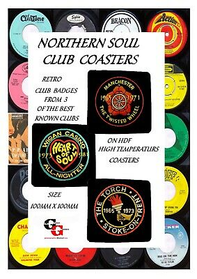 Northern Soul  Famous Club Coasters • 8.50£
