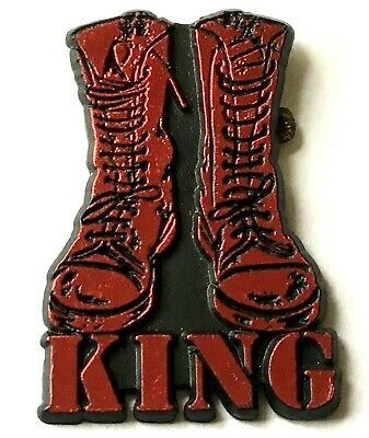 KING - Old OG Vtg 1980`s Shaped Glittered Plastic Pin Badge 3D Glittered Paul • 3.99£
