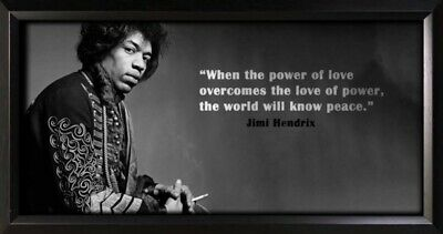 Jimi Hendrix Framed Photo Motivational Poster • 60£