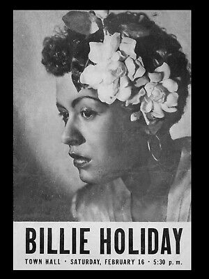 BILLIE HOLIDAY 16  X 12  Reproduction Concert Poster  • 6.95£