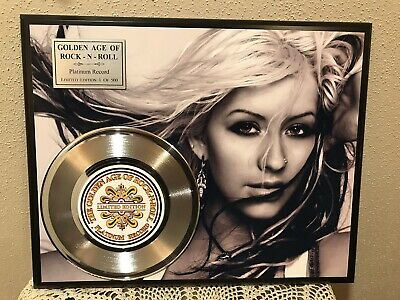 Christina Aguilera Platinum Record Collectors Plaque • 35.73£