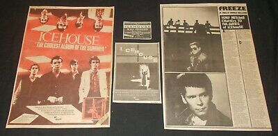 ICEHOUSE   - COLLECTION OF ORIGINAL 1980's MAGAZINE ADVERTISEMENTS • 3.99£