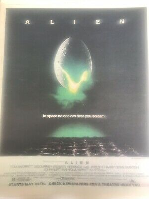 ALIEN-Sigourney Weaver Vintage Rolling Stone ORIGINAL Ad GREAT COLOR • 15.74£