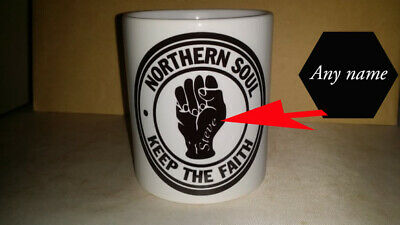 Northern Soul Keep The Faith MUG PERSONALISED FOR FREE Retro Music Lovers • 7.99£