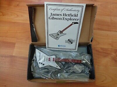 Atlas Editions - James Hetfield Gibson Explorer Metallica Guitar Replica Model • 24.99£