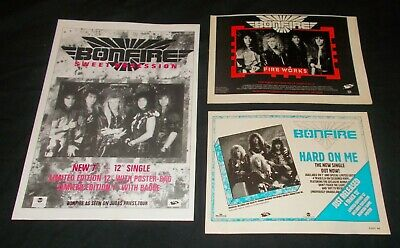 BONFIRE - COLLECTION OF ORIGINAL 1980's MAGAZINE ADVERTISEMENTS (FIREWORKS) • 2.99£
