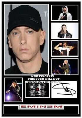 (#220)  Eminem Signed A4 Photograph (reprint) Great Gift ++++++++++ • 5.99£