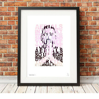 System Of A Down ❤ Aerials ❤ Song Lyric Poster Art Limited Edition Print #134 • 14.95£